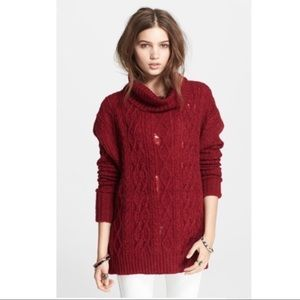 Free People Complex Cable Knit Pullover sweater S